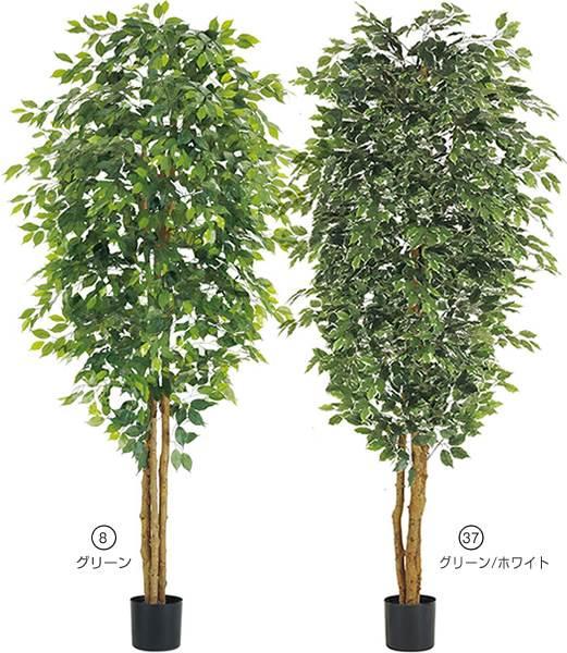240cm フィカスツリー(ナチュラルトランク) 造花 フラワー 観葉植物 [LETR7636]【フェイク グリーン インテリア 人口観葉植物】