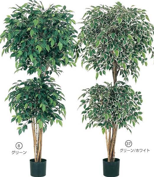 150cm フィカスダブルレイヤーツリー(ナチュラルトランク) 造花 フラワー 観葉植物 [LETR7572]【フェイク グリーン インテリア 人口観葉植物】