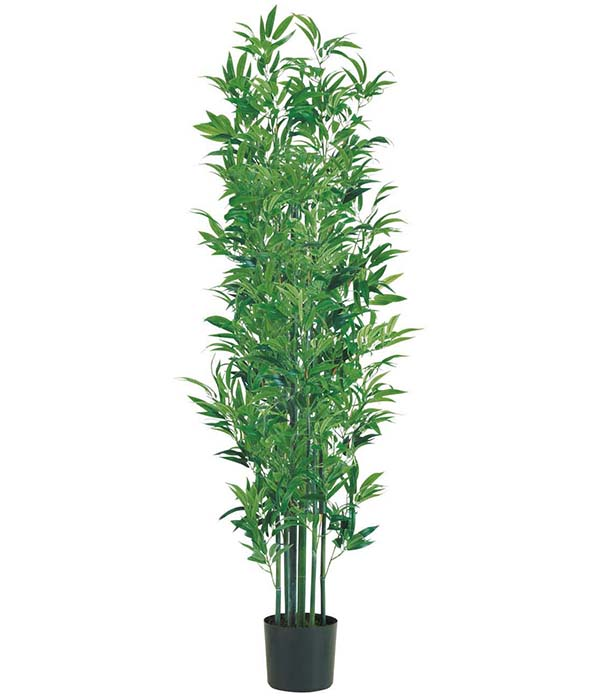 180cm 竹ツリー(ナチュラルトランク) 造花 フラワー 観葉植物 [LETR7629]【フェイク グリーン インテリア 人口観葉植物 バンブー】