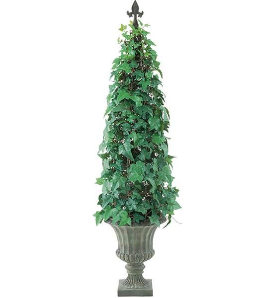 120cm イングリッシュアイビーコーン(ポット付き) 造花 フラワー 観葉植物 [LETR7608]【フェイク グリーン インテリア 人口観葉植物】