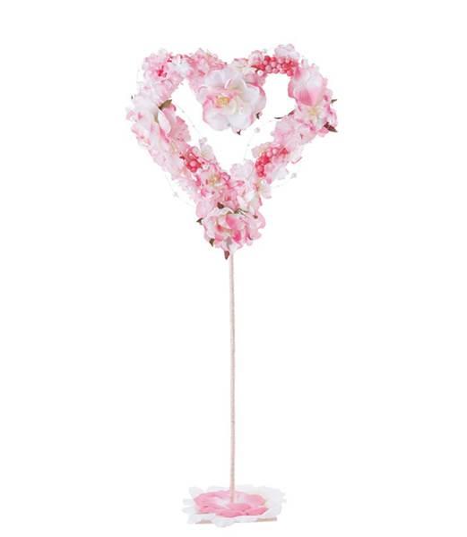 65cm フローラルハートスタンド 造花 フラワー 観葉植物 装飾 [FLGD1673]【フェイク グリーン 資材 フラワー アレンジメント レプリカ モチーフ】