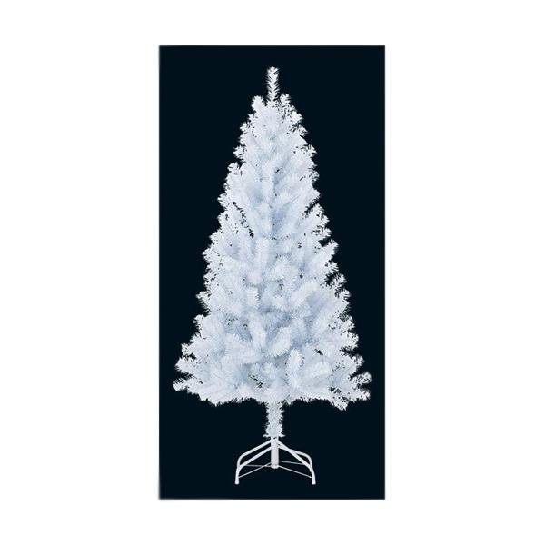 ★クリスマスツリー 防炎150cm ニューホワイトノーブルリッチツリー(ヒンジ式)×310 [PATR61019]