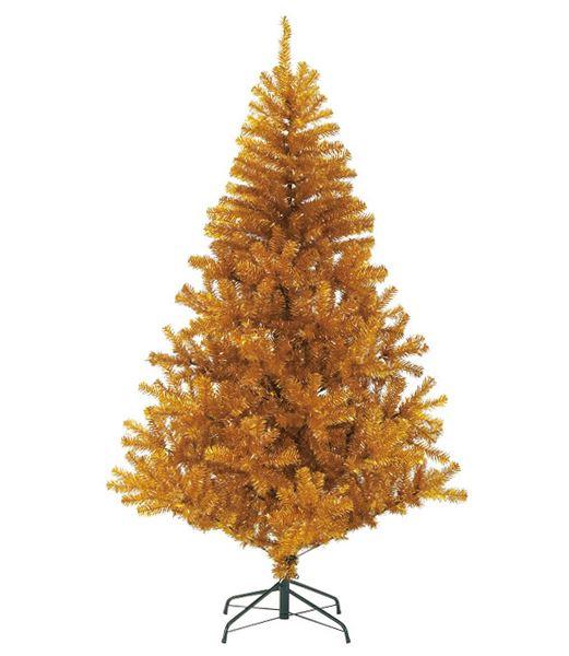 180cm ゴールドノーブルパインワイドツリー(ヒンジ方式) クリスマスツリー [PATR6987] 代引決済不可
