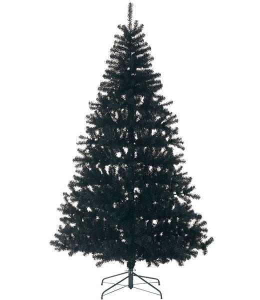 ★クリスマスツリー 240cm ブラックノーブルパインワイドツリー(ヒンジ方式) [PATR6985]