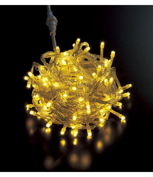 スーパーLEDシャンペーンライト/クリアコード(コネクター付き) クリスマスツリー電飾 耐水100球広角型 [PALI61056]