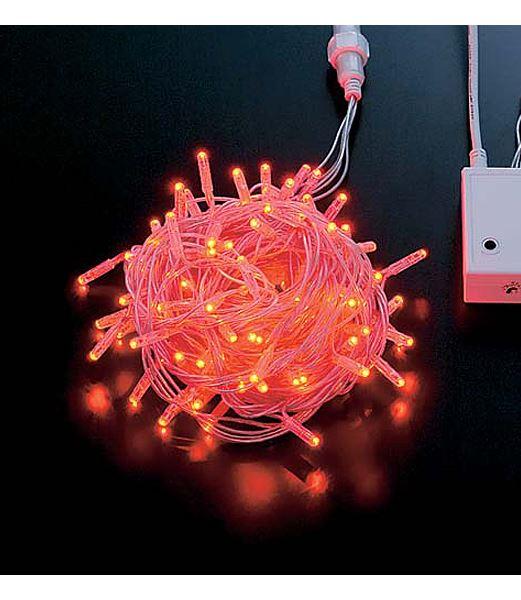 LEDレッドフラッシュライト/閃光点滅(パワーコードコネクター付き) クリスマスツリー電飾 耐水100球 [PALI6993]