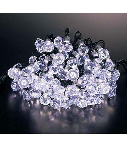 ★クリスマスツリー電飾 耐水100球LEDホワイトダイヤモンドライト/常点灯(パワーコード付き) [PALI6987]