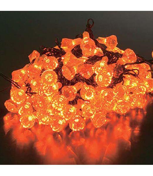 LEDイエローダイヤモンドライト/常点灯(パワーコード付き) クリスマスツリー電飾 耐水100球 [PALI6991]