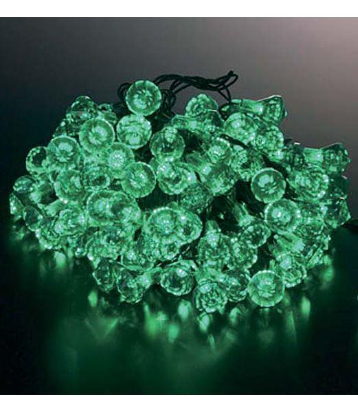 LEDグリーンダイヤモンドライト/常点灯(パワーコード付き クリスマスツリー電飾 耐水100球) [PALI6989]