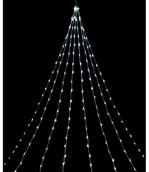 LEDホワイトデルタカーテンライト/クリアコード(8機能コントローラー付) クリスマス電飾 耐水416球広角型 [DILI61189]