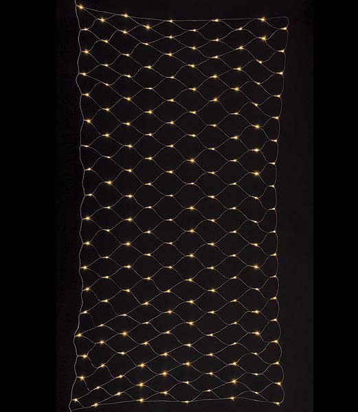 ★クリスマス電飾 耐水180球広角型LEDシャンペーンネットライト/クリアコード(パワーコードコネクター付) [PALI61068]