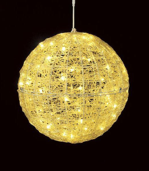★クリスマスツリーライト イルミネーション 耐水45cm100球広角型LEDシャンペーングロー立体ボール/常点灯 [DILI61070]
