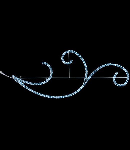 ★電飾 耐水130cm234球広角型LEDホワイトロープライトウェーブ/常点灯(パワーコード コネクター付) [DILI61198]