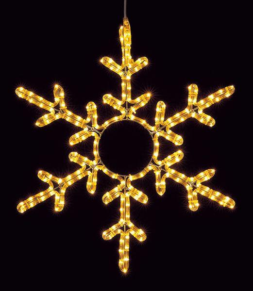 ★クリスマスイルミネーション 耐水65cm200球広角型LEDシャンペーンロープライトスノーフレーク/常点灯 [DILI61100]