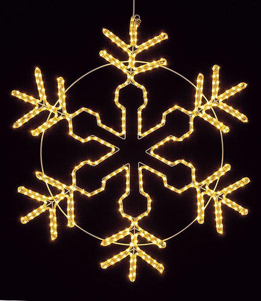 ★クリスマスイルミネーション 耐水100cm450球広角型LEDシャンペーンロープライトスノーフレーク/常点灯 [DILI61096]