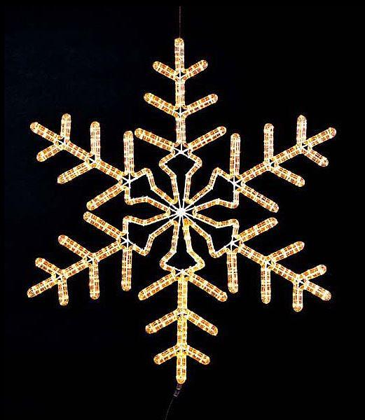 ★クリスマスイルミネーション 電飾 耐水85cmスノーフレークライト/常点灯 [DILI6416]