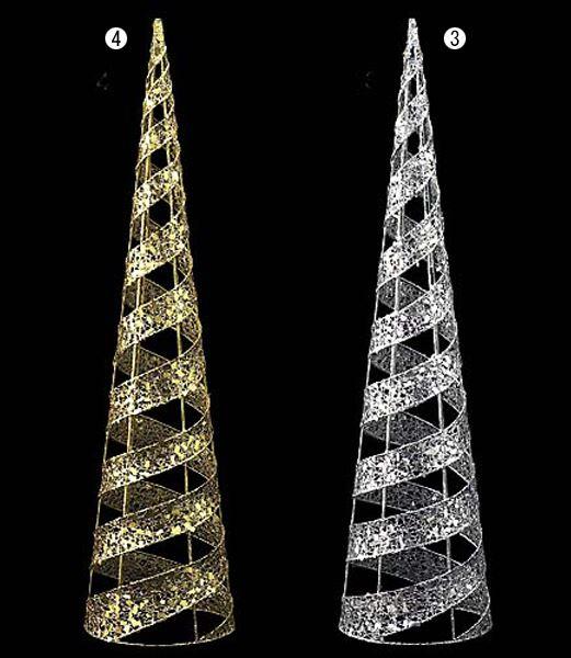 ★クリスマスツリー装飾 90cm グリッターワイヤースパイラルコーン  [DIWI61007]
