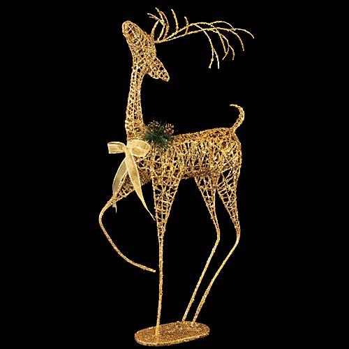 ★クリスマス装飾 飾り付け 小物 90cmゴールドシャイニースレンダーレインディア [DIRE6950]【トナカイ 人形 置物】
