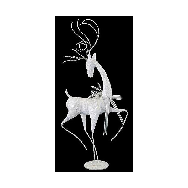 100cmホワイトスレンダーレインディア クリスマス装飾 飾り付け 小物 [DIRE6951]【トナカイ 人形 置物】