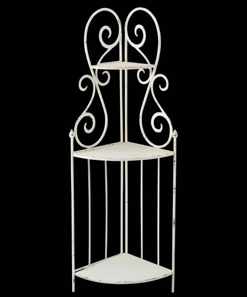 140cmホワイトプランターシェルフ 造花 プランターシェルフ [PAPL7970]【花材 資材 フラワー アレンジメント】