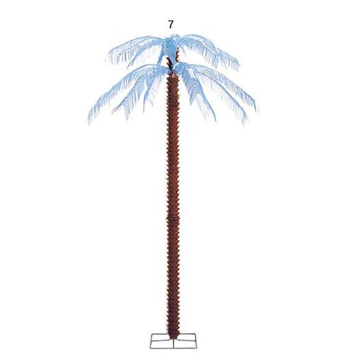 ★サマー マリン装飾デコレーション 205cmヤシノキ(スタンド付き) [DEDE3468]【フェイク 作り物 飾り 夏 マリン サマー】