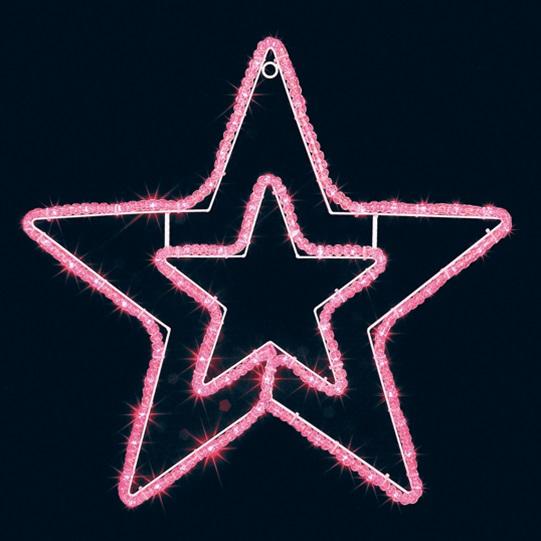 スター 星 クリスマスツリー LEDウインタースターライト(PI)大[MRSMNN3405]|クリスマス 飾り付け 大 店舗装飾 電飾 デコレーション ピンク イルミネーション LED ライト 飾りつけ 飾り