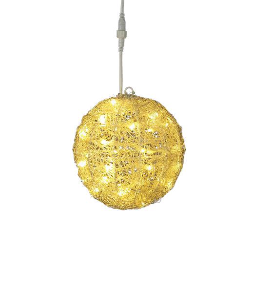 LEDシャンペーングロー立体ボール/常点灯 クリスマスツリーライト イルミネーション 耐水20cm40球広角型 [DILI61071]