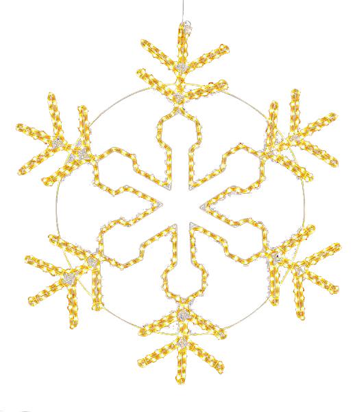 LEDシャンペーンロープライトスノーフレーク/常点灯 クリスマスイルミネーション 耐水100cm450球広角型 [DILI61096]
