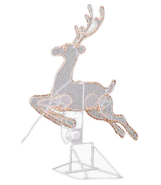 立体レインディアライト/常点灯 クリスマスイルミネーション 電飾 耐水電動90cm [DILI6055]