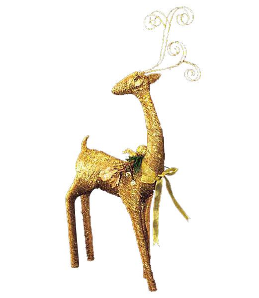 ★クリスマス装飾 飾り付け 小物 100cm ゴールドゴージャスレインディア [DIRE6947]【トナカイ 人形 置物】