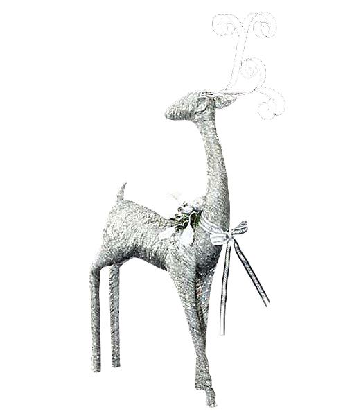 ★クリスマス装飾 飾り付け 小物 100cm シルバーゴージャスレインディア [DIRE6948]]【トナカイ 人形 置物】