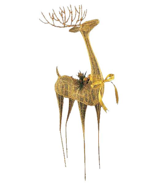 100cm ゴールドエレガントシアーレインディア クリスマス装飾 飾り付け 小物 [DIWI61015]