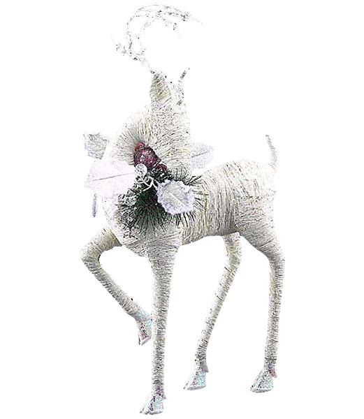 ★クリスマス装飾 飾り付け 小物 60cm ホワイトスレンダーレインディア [DIRE6946]