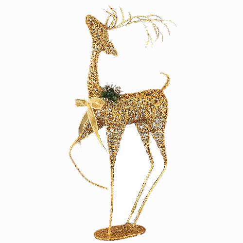 90cmゴールドシャイニースレンダーレインディア クリスマス装飾 飾り付け 小物 [DIRE6950]【トナカイ 人形 置物】