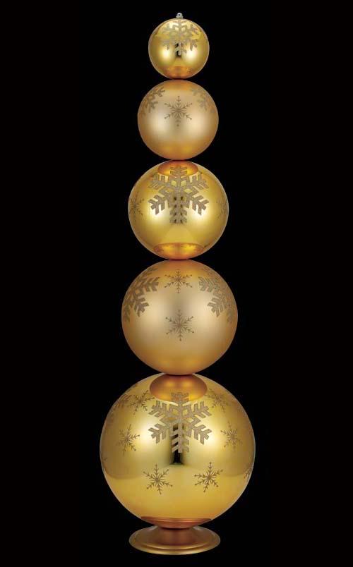 130cmシャイニーマットゴールドボール・Xタンド