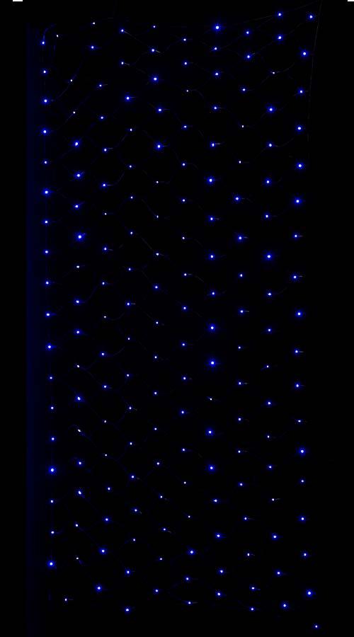 LEDブルーネットライト/ブラックコード(パワーコード、コネクター付き) 耐水180球広角型