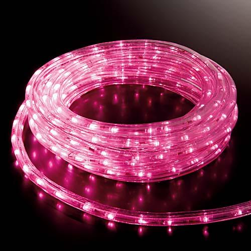 耐水1080球(30M)スーパーLEDピンクロープライト(常点灯/パワーコード/コネクター付き)