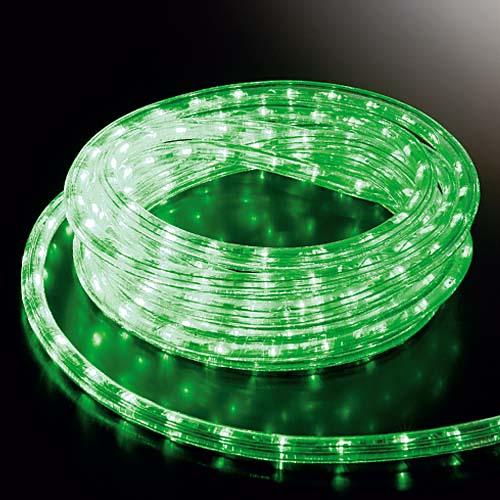 スーパーLEDグリーンロープライト(常点灯/パワーコード/コネクター付き) 耐水1080球(30M)