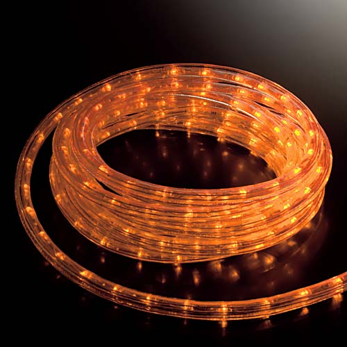 スーパーLEDレッドロープライト(常点灯/パワーコード/コネクター付き) 耐水1080球(30M)