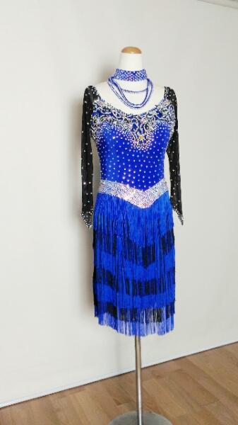 本格派ドレス・競技用 <レンタル>衣装 社交ダンス ドレス Lサイズz057