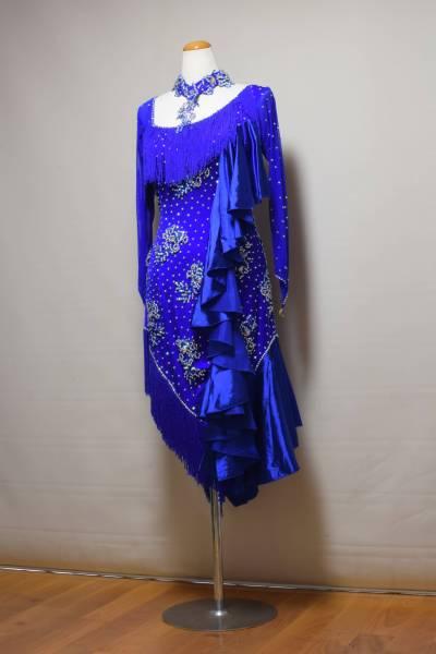 <レンタル>衣装 社交ダンス ドレス L~2LサイズA096