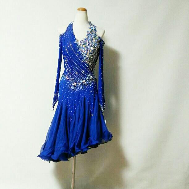 <レンタル>衣装 社交ダンス ドレス LサイズV0405