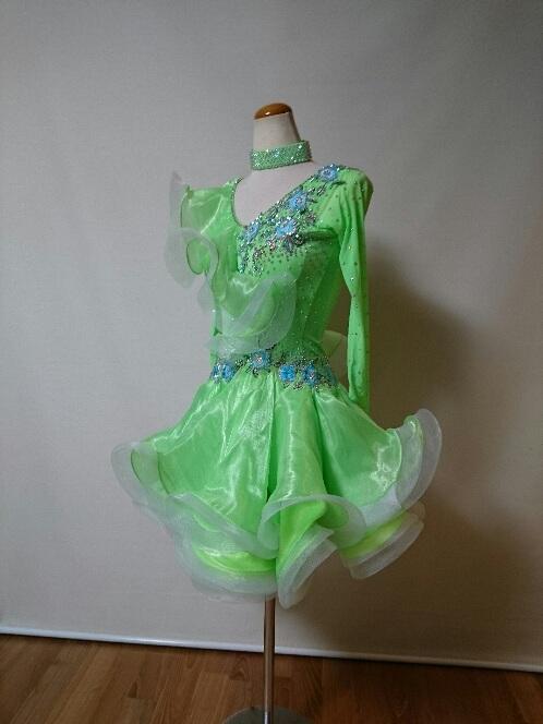 <レンタル>衣装 社交ダンス ドレス SサイズL087