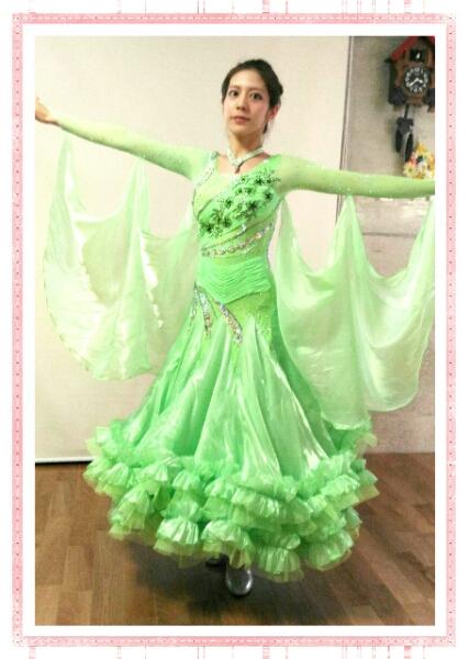 社交ダンス・セミオーダドレス競技y1446