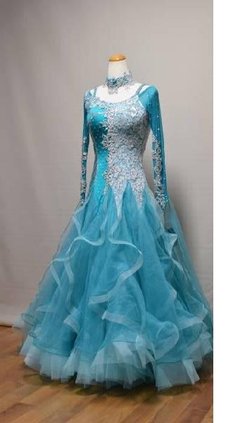 <レンタル>衣装 社交ダンス ドレスB223 Mサイズ