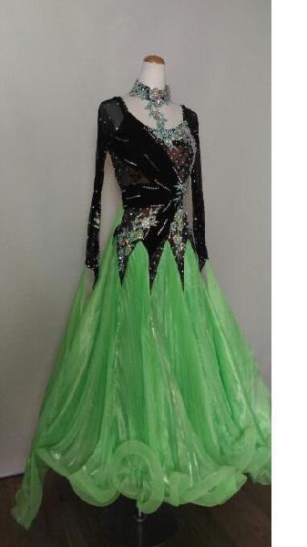 <レンタル>衣装 社交ダンス ドレス MLサイズZ063