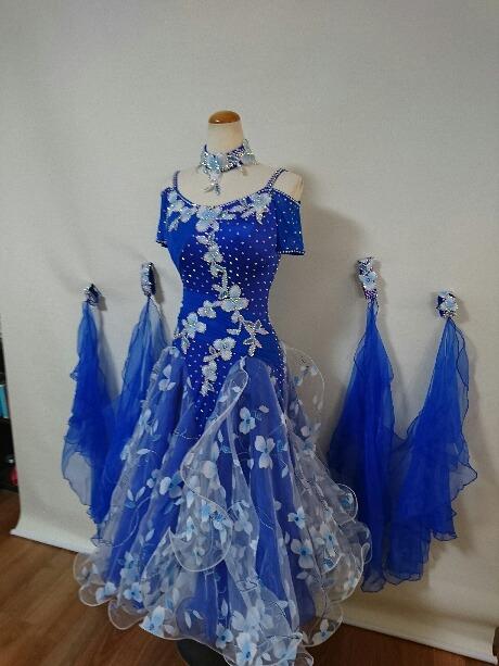 社交ダンス・セミオーダドレス・競技z048b
