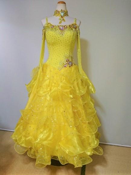 <レンタル>衣装 社交ダンス ドレスz185k