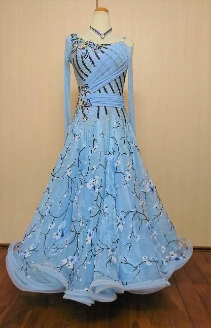 本格派ドレス 定番スタイル 競技用 セールSALE%OFF 社交ダンス 競技y2633 セミオーダドレス
