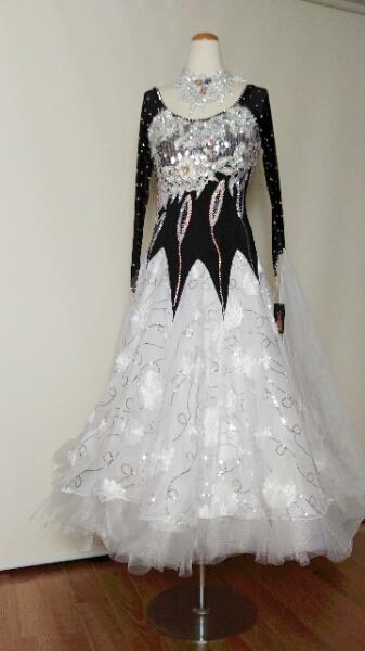 <レンタル>衣装 社交ダンス ドレス MサイズZ050